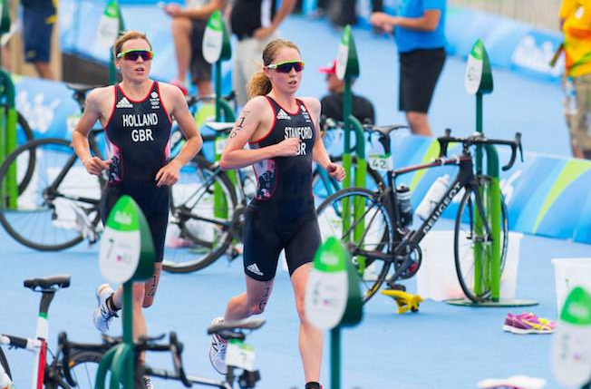 Image of Non Stanford and Vicky Holland at Rio Olympics